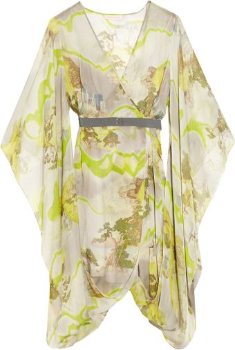 Matthew Williamson Kyoto Printed Silk-chiffon Wrap Dress - Lyst
