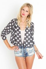 Nasty Gal Dottie Wrap Jacket - Lyst