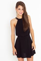 Nasty Gal Melinda Halter Dress in Black - Lyst
