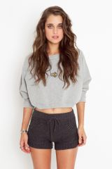 Nasty Gal Cabin Fever Knit Shorts - Lyst