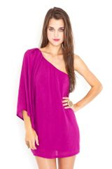 Nasty Gal Serious Flare Dress - Magenta - Lyst