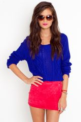 Nasty Gal Acid High Skirt - Red - Lyst