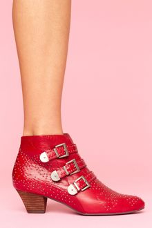 Nasty Gal Starburst Stud Boot - Red - Lyst