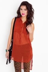 Nasty Gal Double Duty Shirtdress - Rust - Lyst