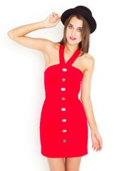 Nasty Gal Scarlet Halter Dress - Lyst