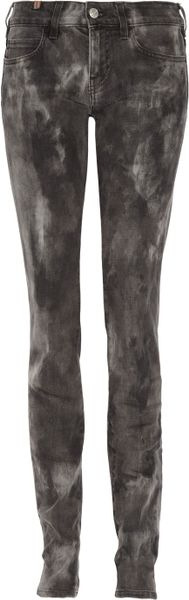Notify Bamboo Tie Dye Mid-rise Skinny Jeans in Beige (bamboo)