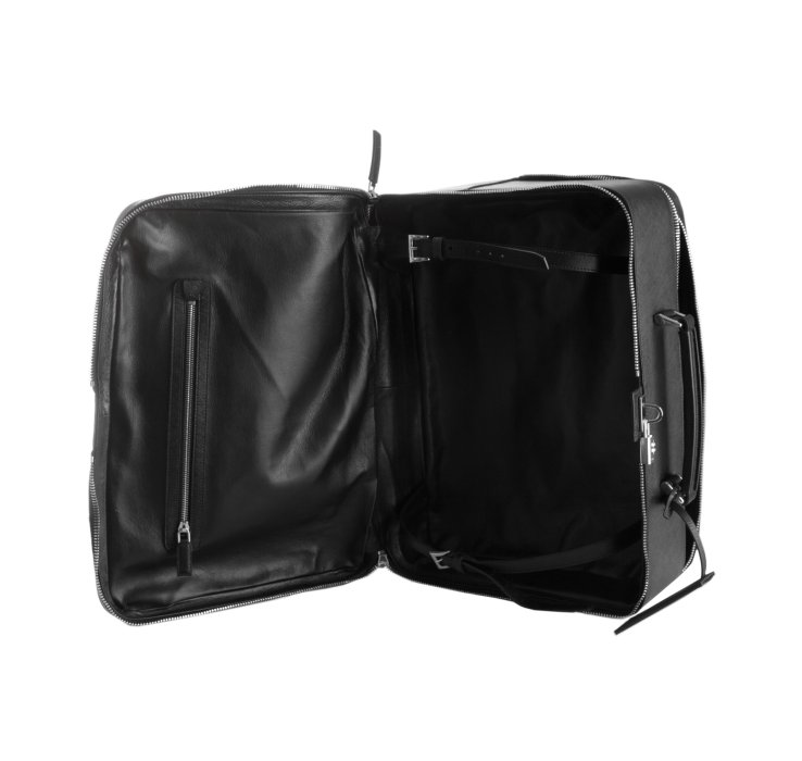 Prada Black Saffiano Leather Small Suitcase in Black for Men | Lyst - prada weekender black