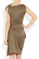 Vivienne Westwood Anglomania Fond Draped Cupro Dress in Brown (mocha) - Lyst
