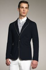 Giorgio Armani Piped Jersey Jacket - Lyst