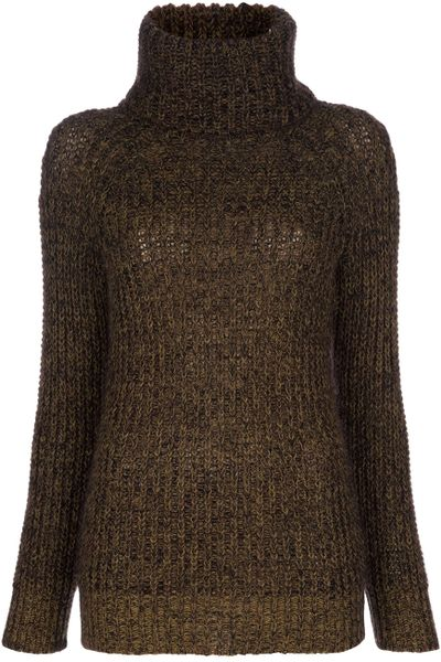 Junya Watanabe Turtle Neck Sweater in Brown - Lyst