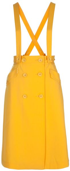Labour Of Love High Waisted Skirt in Yellow - Lyst