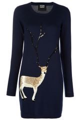 Markus Lupfer Sequin Deer Dress - Lyst