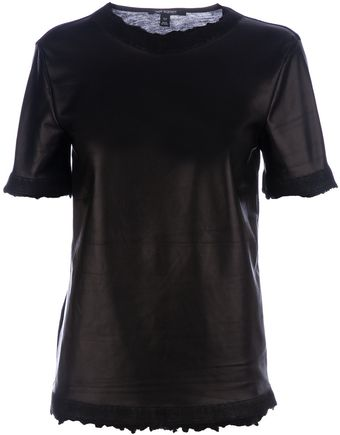Neil Barrett Leather T- shirt - Lyst