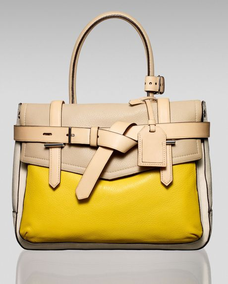 Reed Krakoff Boxer Tote in Yellow (cream)