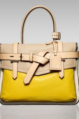 Reed Krakoff Boxer Tote in Yellow (cream) - Lyst