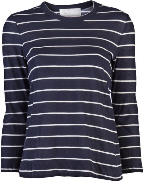 A.l.c. Travis Stripe T-shirt in Blue - Lyst