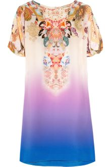 Etro Printed Ombré Silk-crepe Mini Dress - Lyst