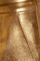 Gucci Metallic Leather Mini Skirt in Gold - Lyst
