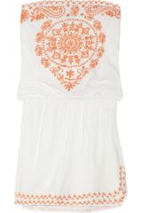 Melissa Odabash Toya Beaded Cotton Dress - Lyst