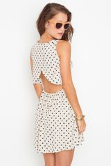 Nasty Gal Dot Cutout Dress - Lyst