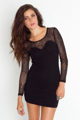Nasty Gal Elsa Lace Dress in Black - Lyst