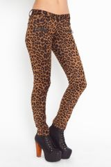 Nasty Gal Leo Zip Pants in Animal (leopard) - Lyst