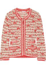 Oscar de la Renta Crocheted Silk Jacket - Lyst