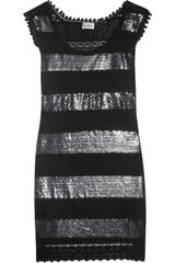 Philosophy di Alberta Ferretti Sequin-embellished Crocheted Dress - Lyst