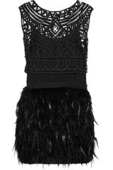 Sass & Bide Winding Road Silk-blend and Feather Dress - Lyst