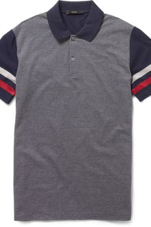 Gucci Diamond Front Cotton Polo Shirt - Lyst