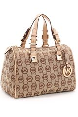 Michael by Michael Kors Medium Grayson Monogram Satchel - Lyst
