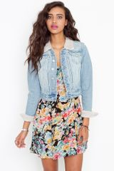 Nasty Gal Wandered Denim Jacket in Blue (denim) - Lyst