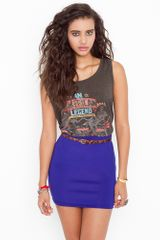 Nasty Gal Scuba Skirt  Indigo in Blue (indigo) - Lyst