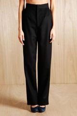 Tze Goh Womens Cashmere Wide Trousers - Lyst