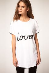 ASOS Collection T-shirt with Contrast Slogan - Lyst