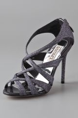 Badgley Mischka Junebug Glitter Sandals - Lyst