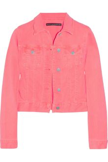 Christopher Kane Neon Stretch-Denim Jacket - Lyst