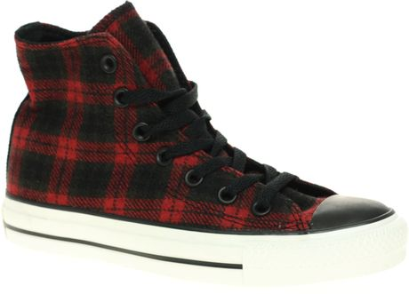 Converse  Speciality Plaid Hi Top in Black (plaid) - Lyst