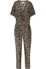 Emma Cook Mini Jungle Printed Silk and Cotton-blend Jumpsuit - Lyst