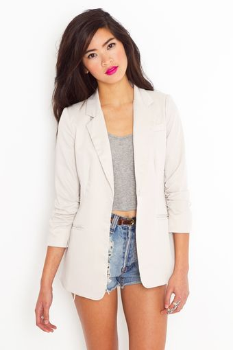 Nasty Gal Beach Club Blazer - Khaki - Lyst