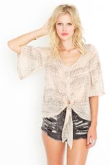 Nasty Gal Tribal Tie Blouse - Lyst