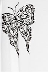 Thomas Wylde Seeing Double Embellished FineJersey Tunic in White - Lyst