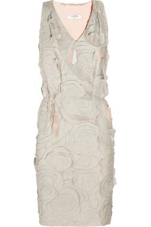 Valentino Roma Cutout-rosette Leather Dress - Lyst