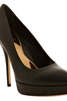 Gucci Black Leather Ssima Platform Pumps - Lyst