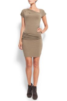 Mango Fitted Asymmetrical Dress - Lyst