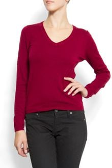 Mango V-neck Sweater - Lyst