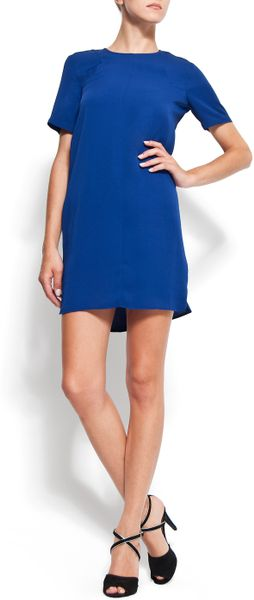 Mango Straightcut Dress in Blue (69) - Lyst