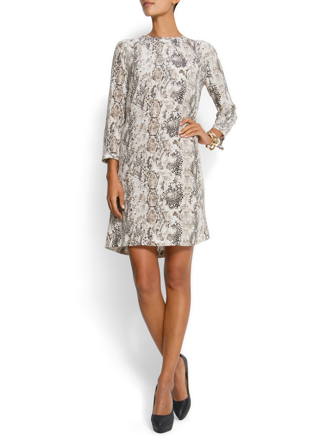 Mango Snake Print Dress In Animal 92 Lyst