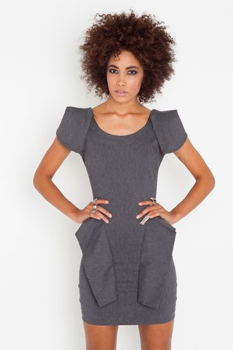 Nasty Gal Victoria Peplum Dress - Lyst