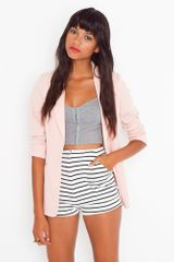 Nasty Gal Striped Tap Shorts - Lyst